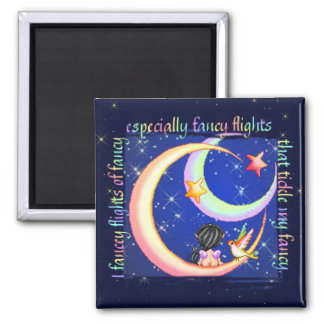 Tickled Fancy Pixel Art Faery Moon Square Magnet