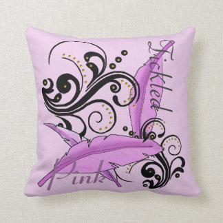 Tickled Pink Breast Cancer Remission Pillow Cushion