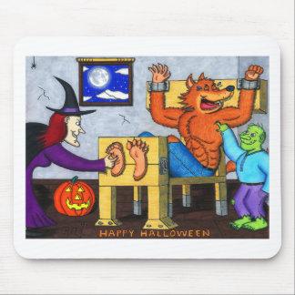 Ticklish Halloween Werewolf Mouse Pad