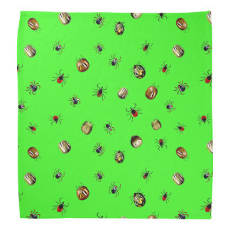 Ticks and Lyme Disease Awareness ribbons Bandanna