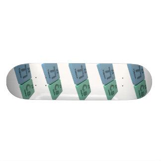 Tics as Ti Titanium and Cs Caesium Custom Skateboard