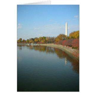 Tidal Basin and Washington Monument Card