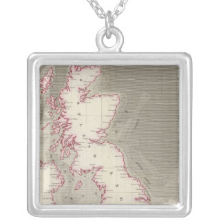 Tidal chart British Seas Silver Plated Necklace