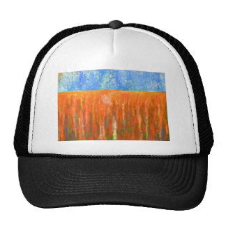 Tidal Red (abstract seascape) Cap