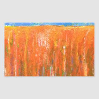 Tidal Red (abstract seascape) Rectangle Sticker