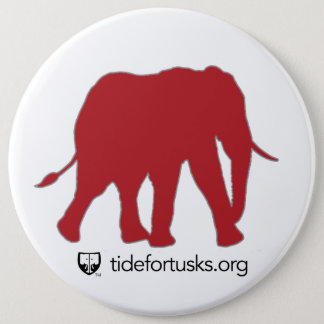 Tide For Tusks Elephant Button