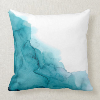 Tide Ocean Blue Watercolour Painting Cushion