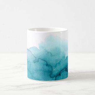 Tide Ocean Blue Watercolour Painting Mug