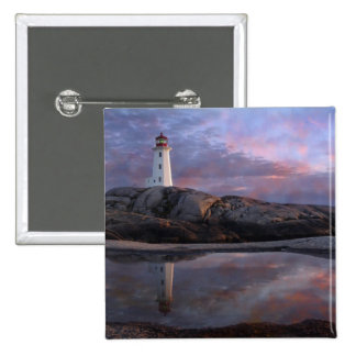 Tide Pool by Lighthouse 15 Cm Square Badge