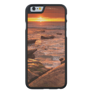 Tide pools at sunset, California Carved Maple iPhone 6 Case