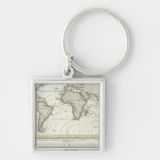 Tide-wave Atlas Map Key Ring