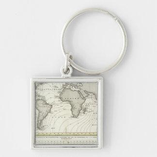 Tide-wave Atlas Map Key Chains