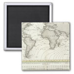 Tide-wave Atlas Map Square Magnet
