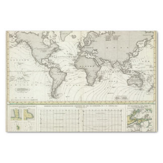 Tide-wave Atlas Map Tissue Paper