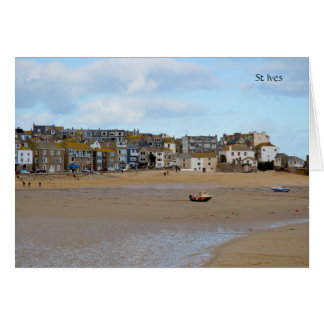 Tides Out St Ives Cornwall England Note Card