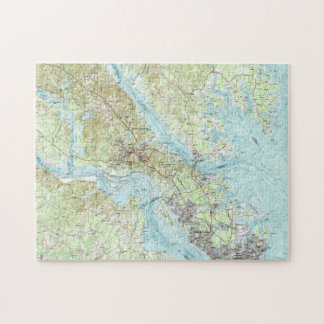 Tidewater Virginia Map (1984) Jigsaw Puzzle