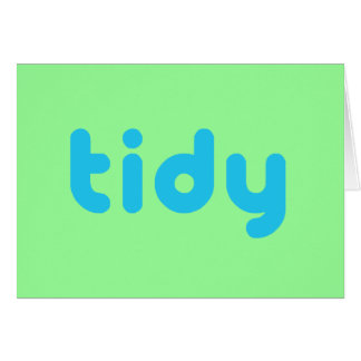 Tidy Card