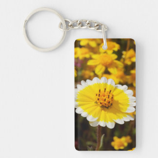 Tidy Tip Wildflowers Double-Sided Rectangular Acrylic Key Ring