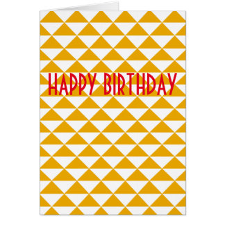 Tidy triangle happy birthday card