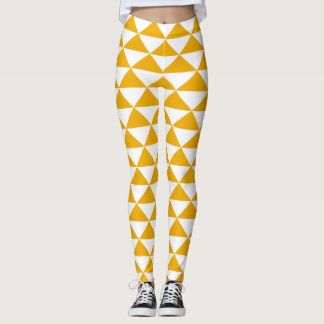 tidy triangle mustard leggings