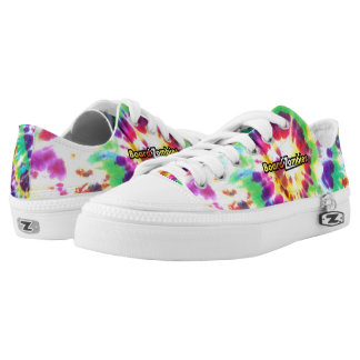Tie And Die Pattern BoardZombies Style Low Tops Printed Shoes