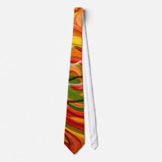 Tie- AUTUMN COLORFUL ABSTRACT DESIGN Tie