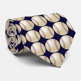 Tie, Baseball, Dark Blue Background Tie