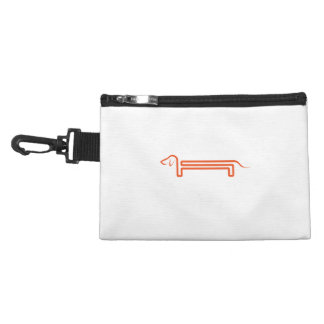 Tie-clip on cultural bag with dachshund accessories bags