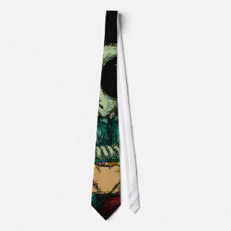 Tie, Cute Alien Frankenstein Illustration Abstract Tie