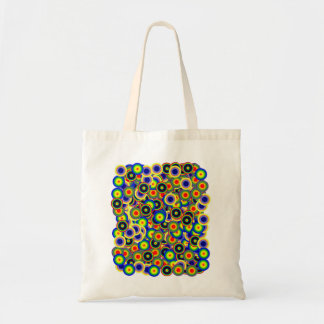 tie_die marbles 60's style Psychedelic Budget Tote Bag