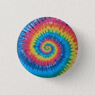 tie dye 3 cm round badge