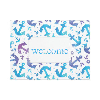 Tie Dye Anchor Pattern | Add Your Text Doormat