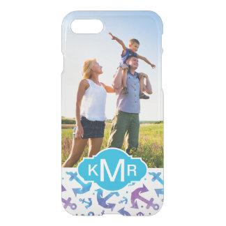 Tie Dye Anchor Pattern   Your Photo & Monogram iPhone 8/7 Case