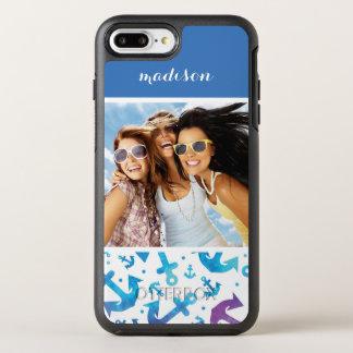 Tie Dye Anchor Pattern | Your Photo & Name OtterBox Symmetry iPhone 8 Plus/7 Plus Case