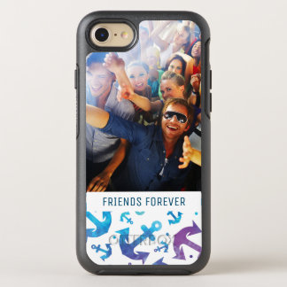 Tie Dye Anchor Pattern | Your Photo & Text OtterBox Symmetry iPhone 8/7 Case