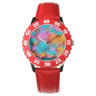 Tie Dye Background Wrist Watch
