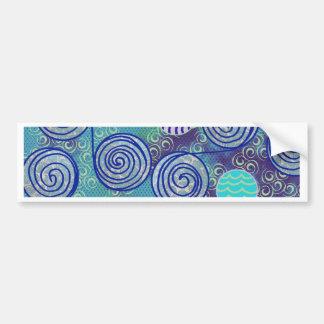 Tie Dye Blue African Wax Pattern Bumper Sticker