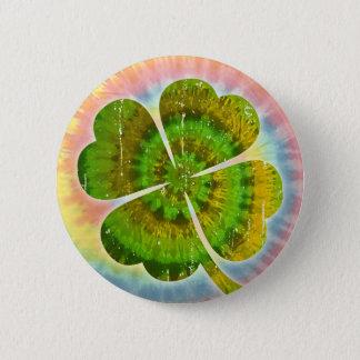 Tie Dye Clover 6 Cm Round Badge