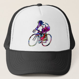 Tie Dye Cyclist Trucker Hat