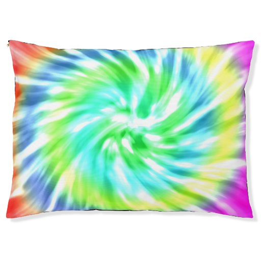 Tie Dye Design Dog Bed