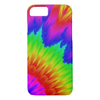 Tie dye design retro 70's art rainbow l 1 iPhone 8/7 case