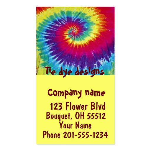 Collections of dyed business cards tie dye designs business card colourmoves