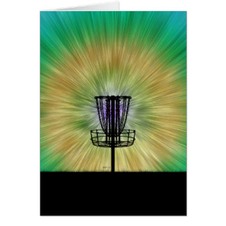 Tie Dye Disc Golf Basket Card