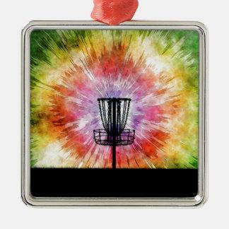 Tie Dye Disc Golf Basket Christmas Ornament