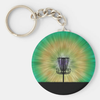 Tie Dye Disc Golf Basket Key Ring