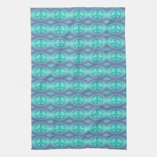 Tie Dye Effect Peace Sign Tea Towel
