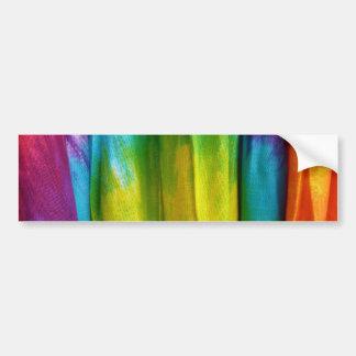 Tie-Dye Fabric Print Car Bumper Sticker