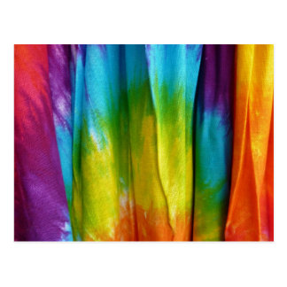 Tie-Dye Fabric Print Post Cards