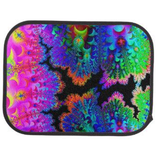 Tie Dye Fractal Car Mat