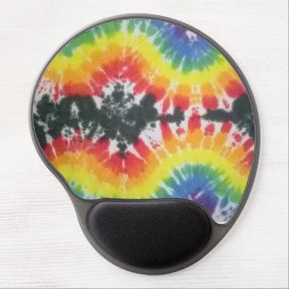 tie dye gel mouse pad black rainbow